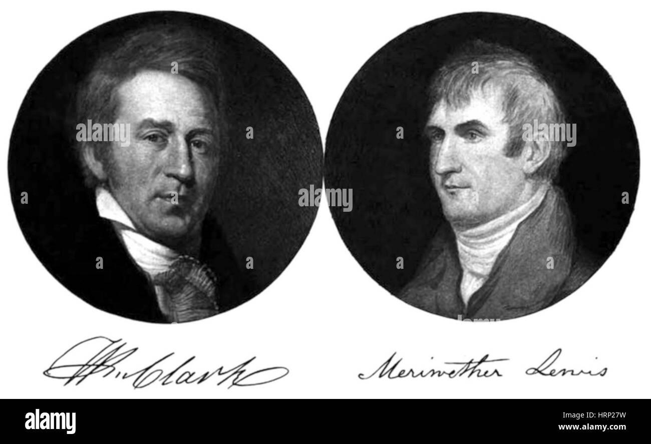 lewis and clark american explorers stock photo 135094397 alamy