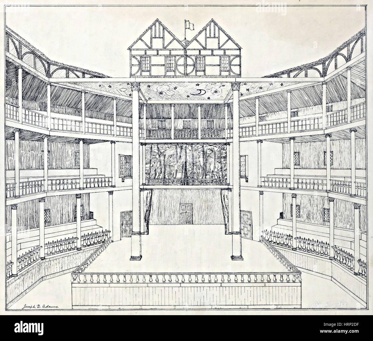 shakespeare 39 s globe theatre reconstruction stock photo. Black Bedroom Furniture Sets. Home Design Ideas