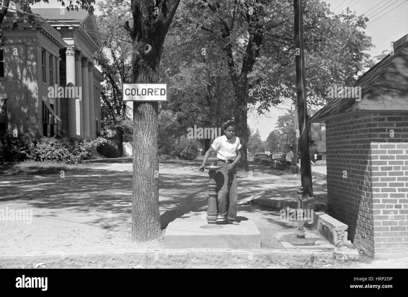 Segregated Water Fountain, 1938 - Stock Image