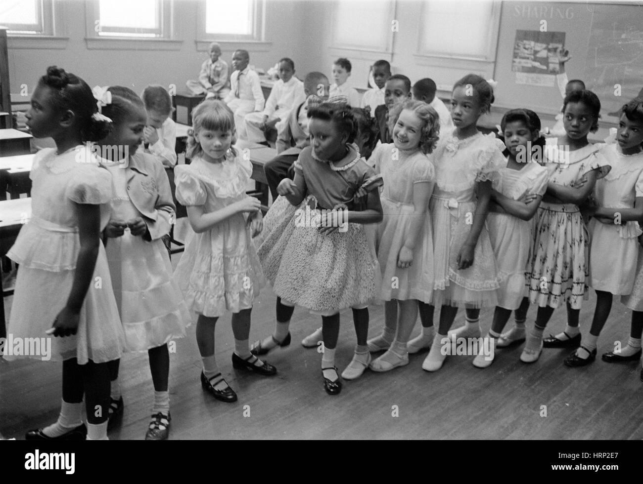 Integrated School, Washington DC, 1955 - Stock Image