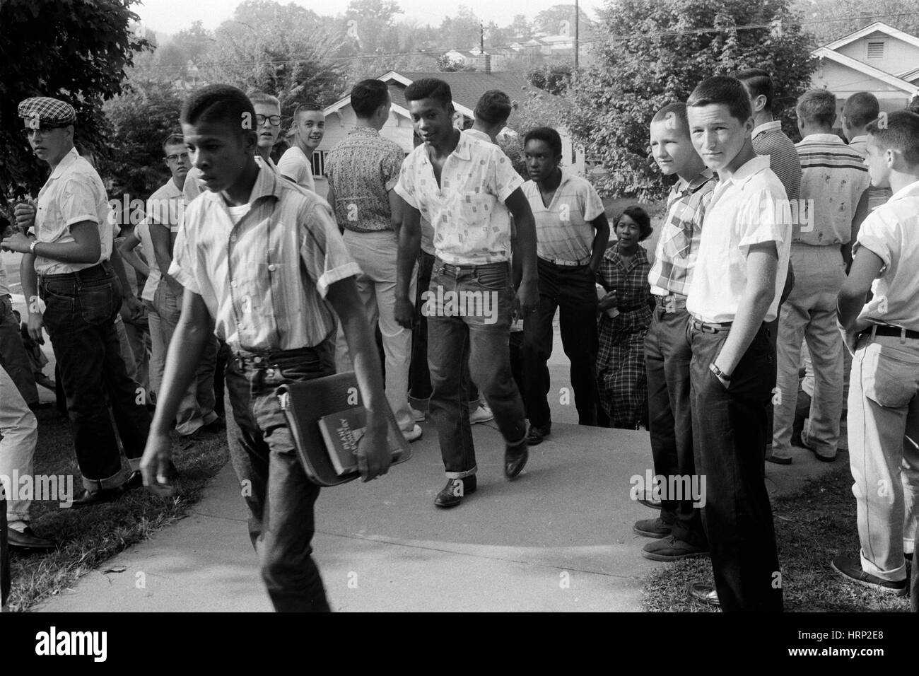 Desegregated School, Tennessee, 1956 - Stock Image