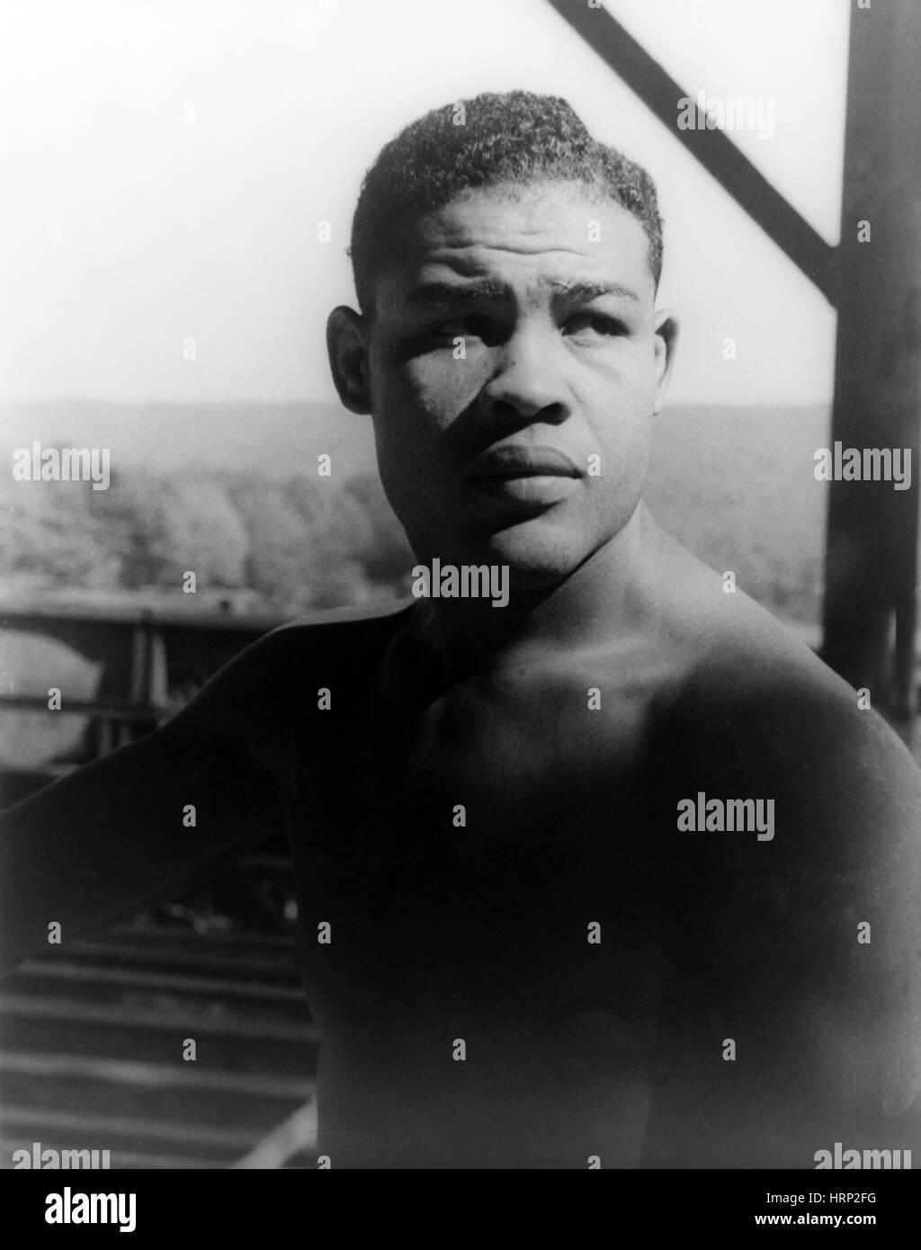 Joe Louis, American Heavyweight Champion - Stock Image