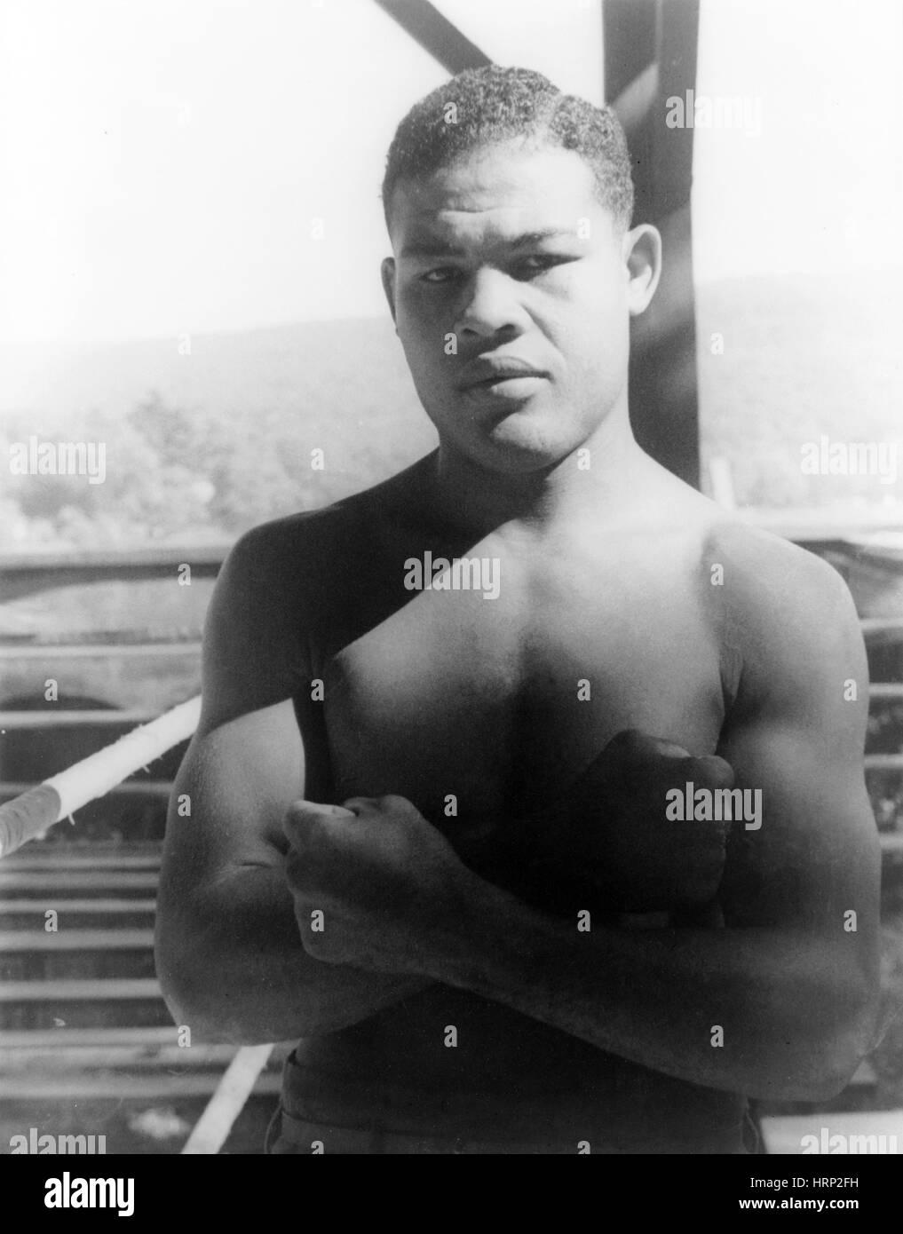 Joe, Louis, American Heavyweight Champion - Stock Image