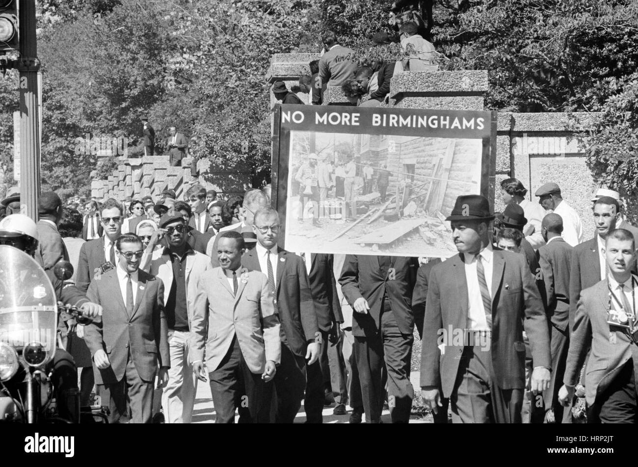 CORE Protests Birmingham Bombings, 1963 - Stock Image