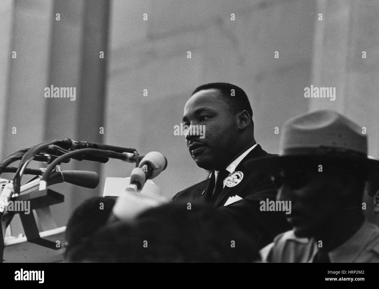 Martin Luther King Jr., March on Washington, 1963 Stock Photo