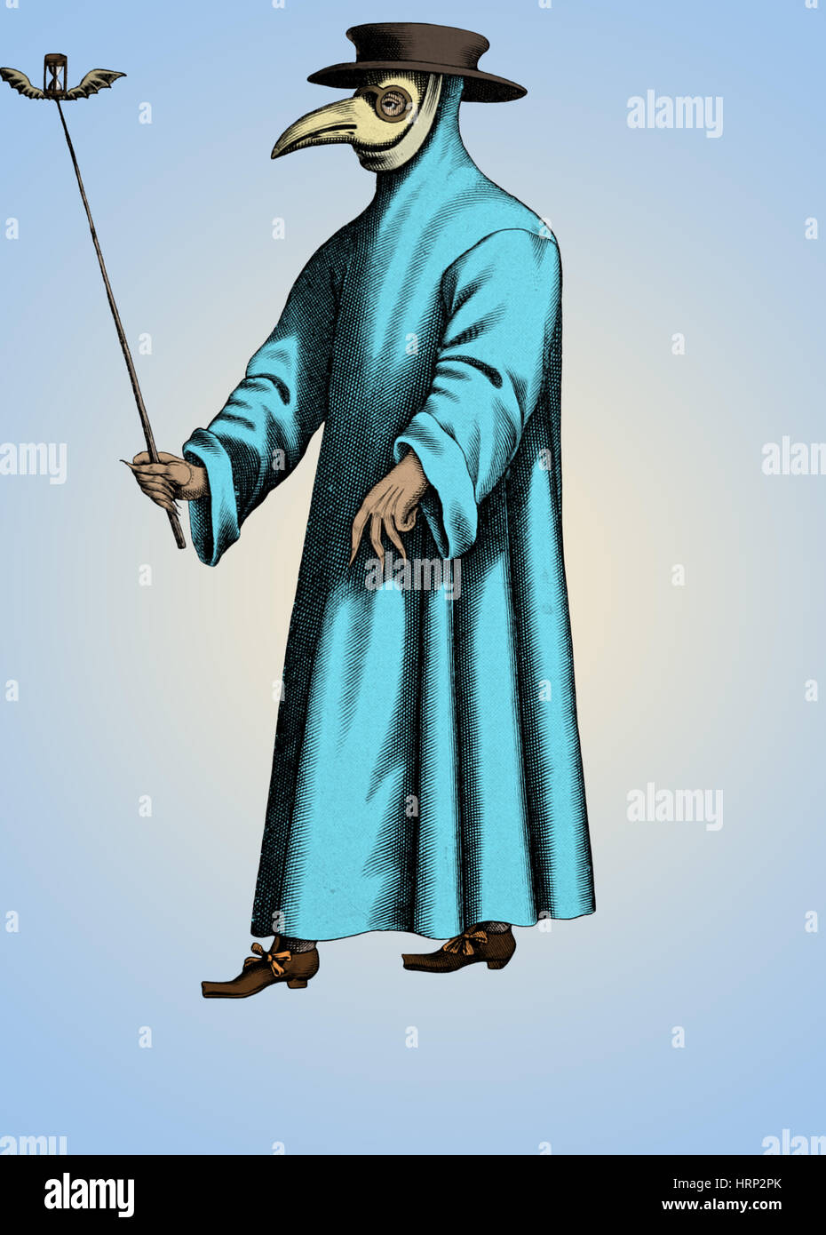 Plague Doctor, 17th Century Stock Photo