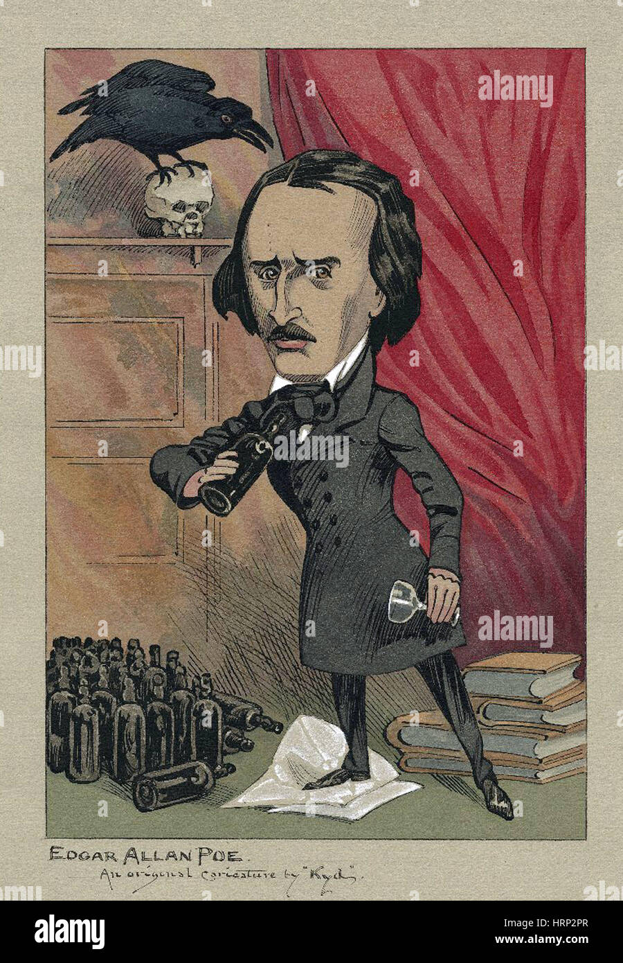 Edgar Allan Poe, American Author - Stock Image