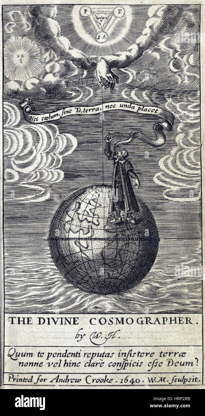 Cosmology, 'The Divine Cosmographer', 1640 - Stock Image