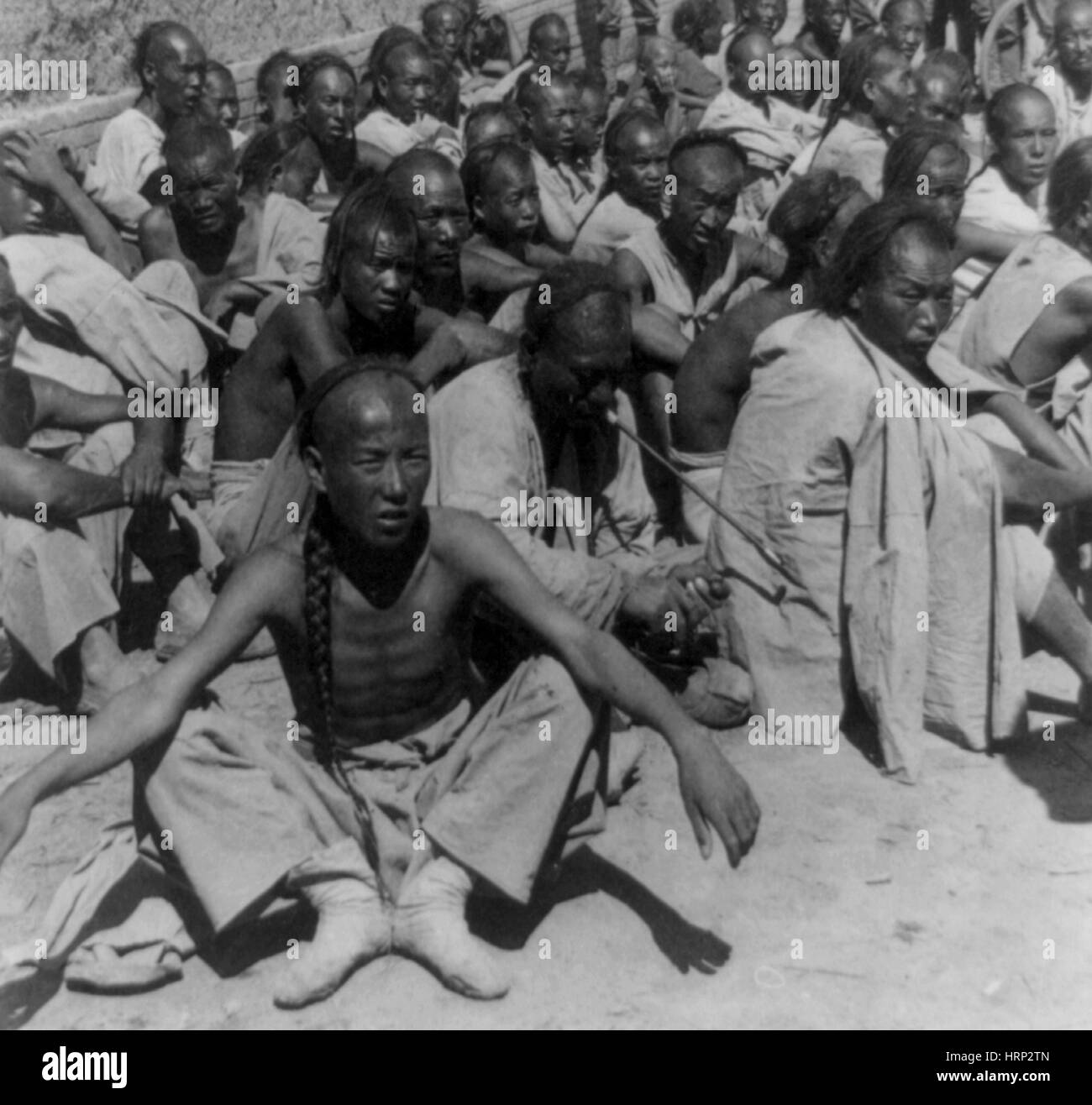 Captured Boxer Rebellion Prisoners, 1900 - Stock Image