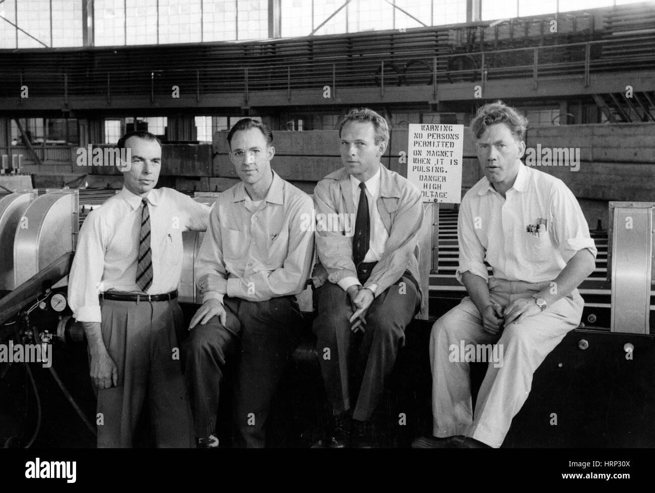 Antineutron Discovery Team, 1956 - Stock Image