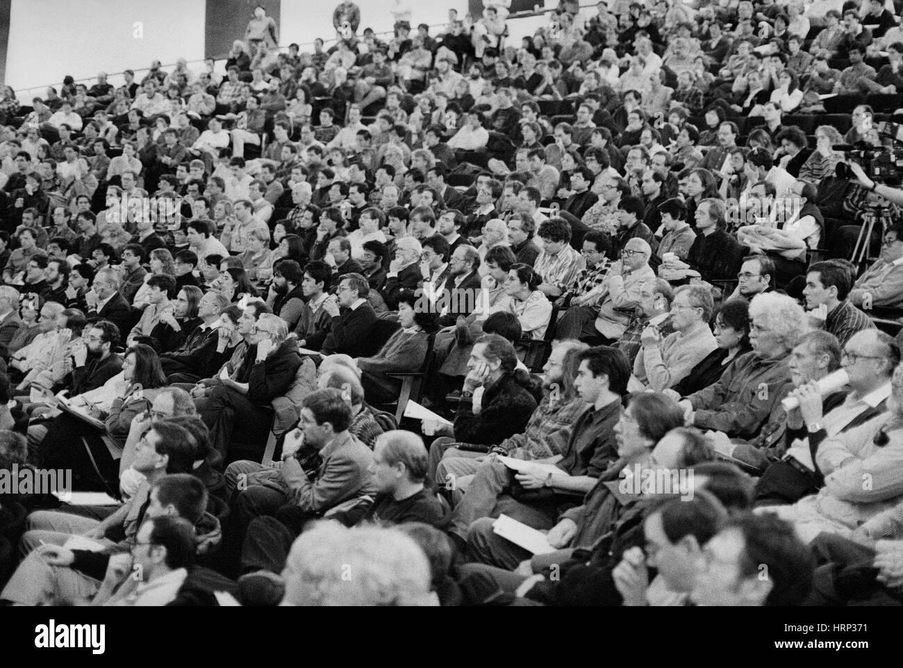 Top Quark Discovery Seminar, 1995 - Stock Image