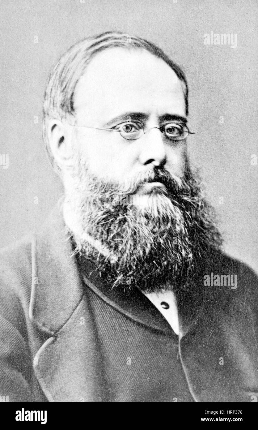 Wilkie Collins, English Author - Stock Image