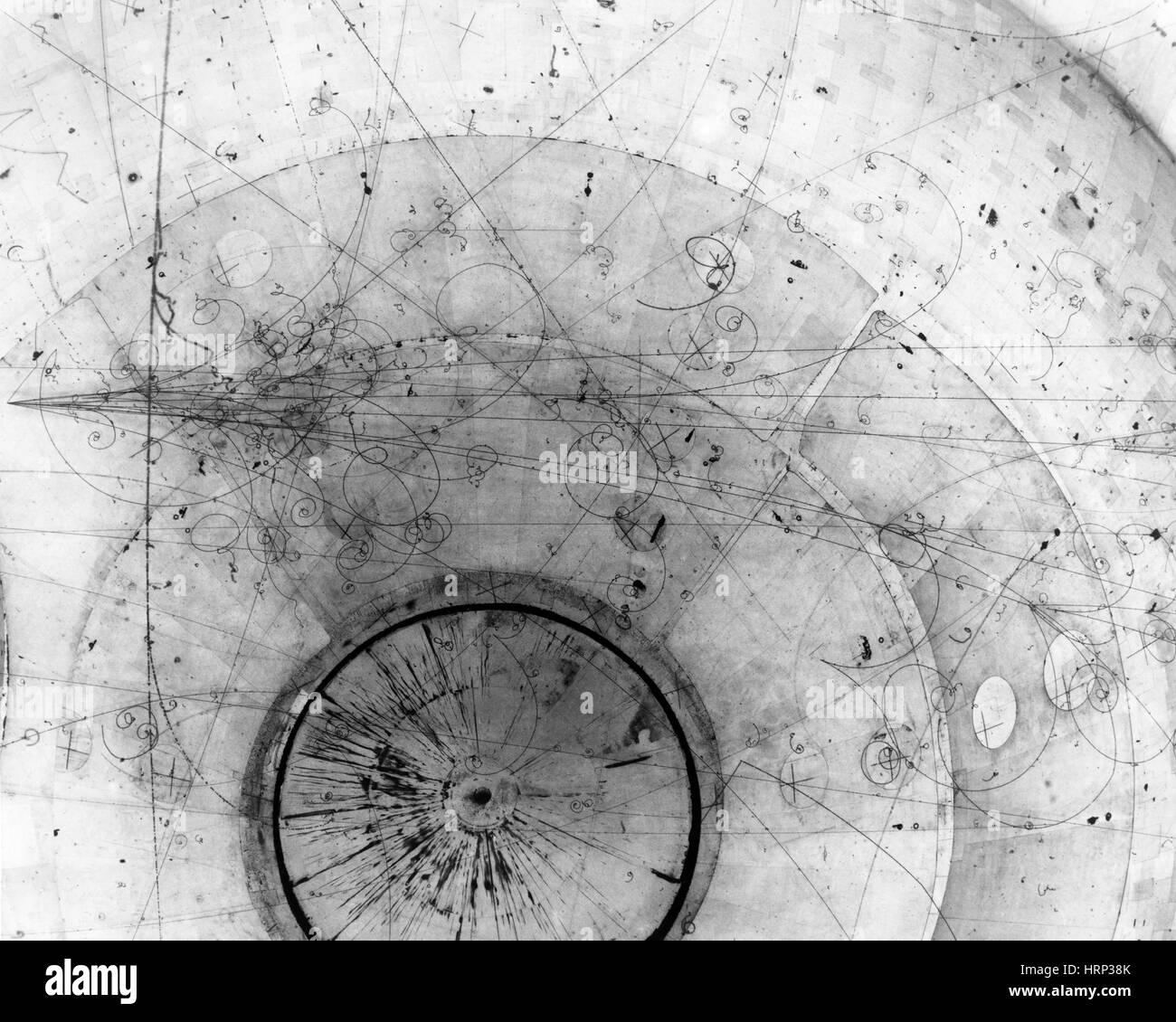 Bubble Chamber Event, Di Muon Neutrino, 1978 - Stock Image