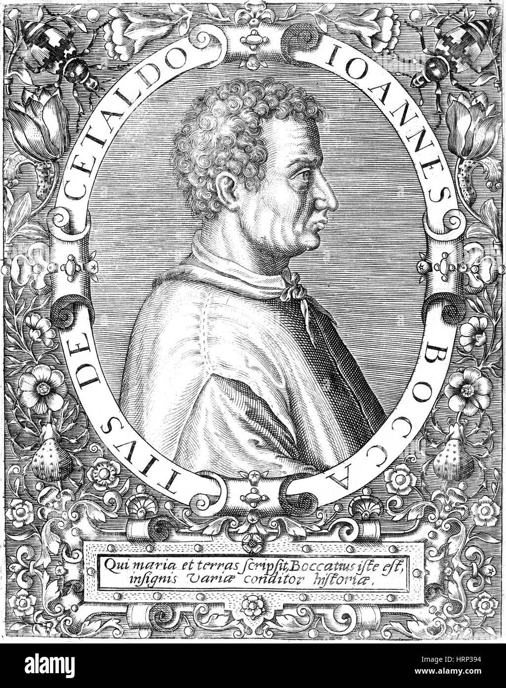 Giovanni Boccaccio, Italian Author - Stock Image