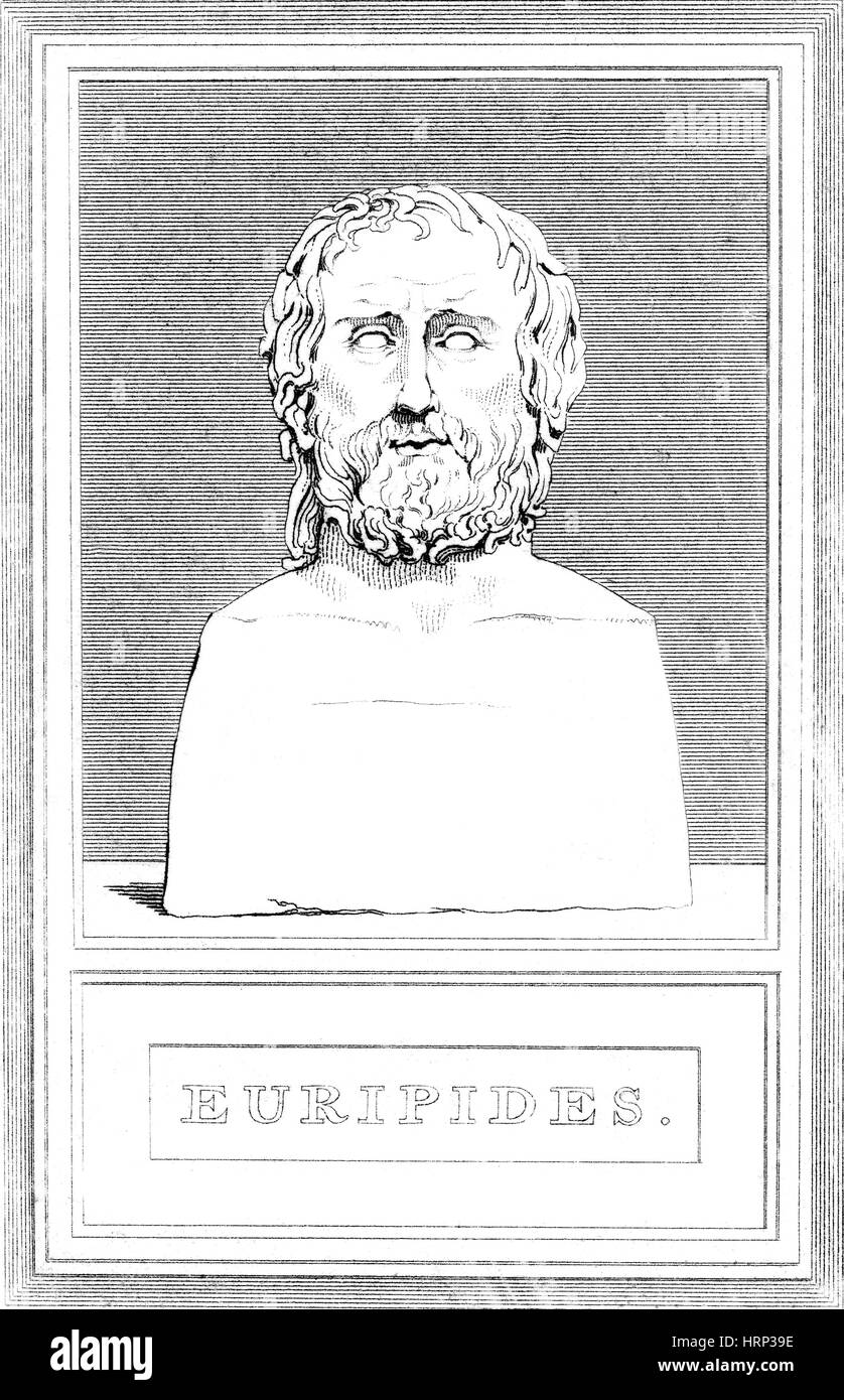 Euripides, Ancient Greek Playwright - Stock Image