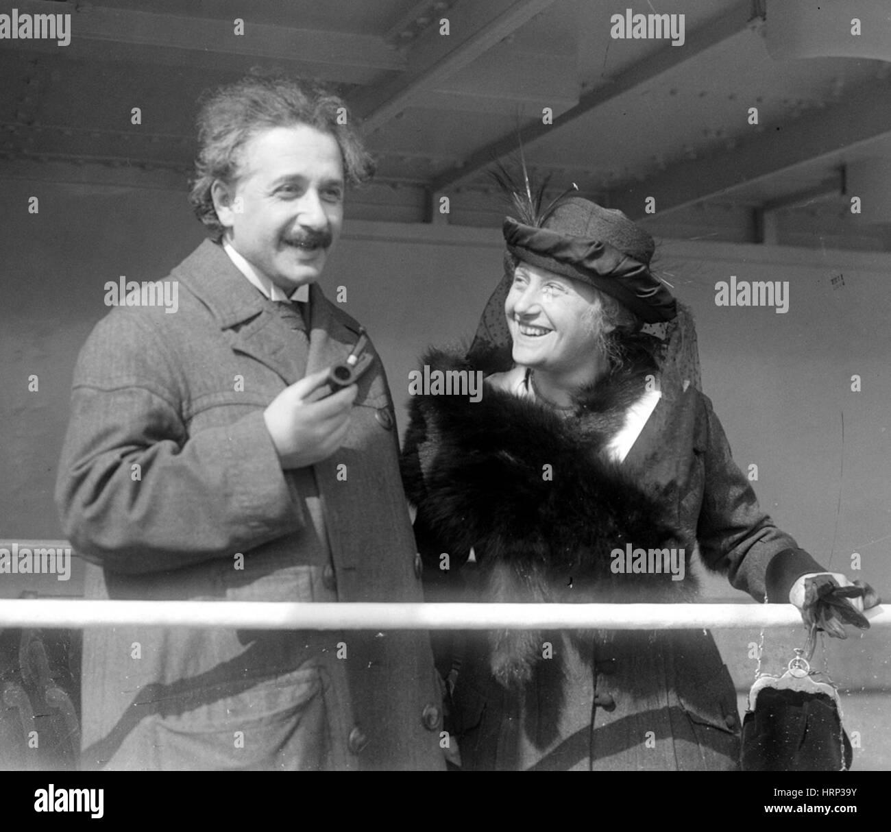 Albert and Elsa Einstein, c. 1920s - Stock Image