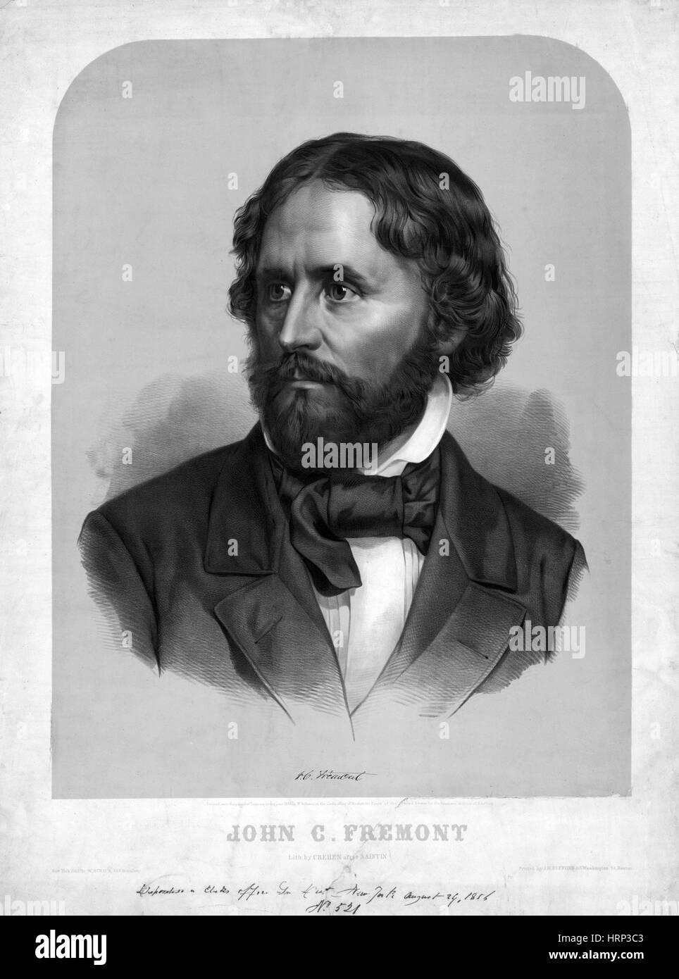 John Charles Fr̩mont, American Civil War Officer - Stock Image