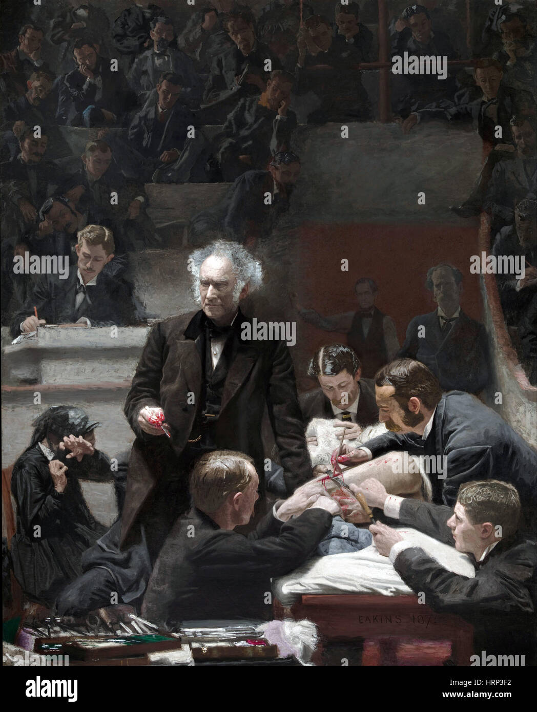 The Gross Clinic, 1875 - Stock Image