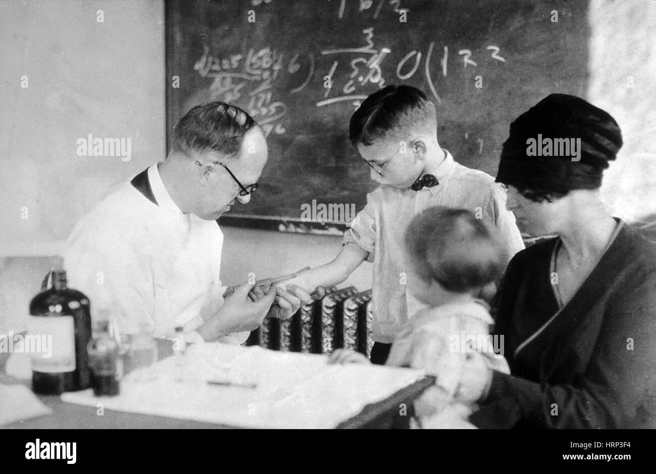 Schick Test, 1915 - Stock Image