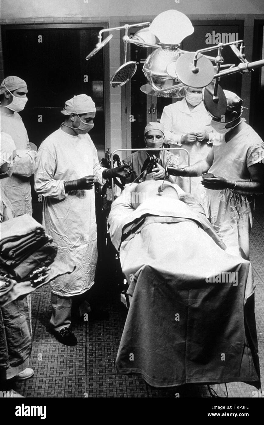 Cancer Surgery, 1949 - Stock Image