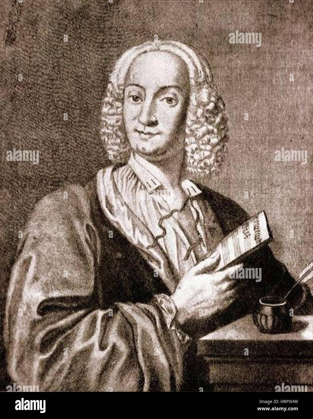 Antonio Vivaldi, Italian Composer - Stock Image