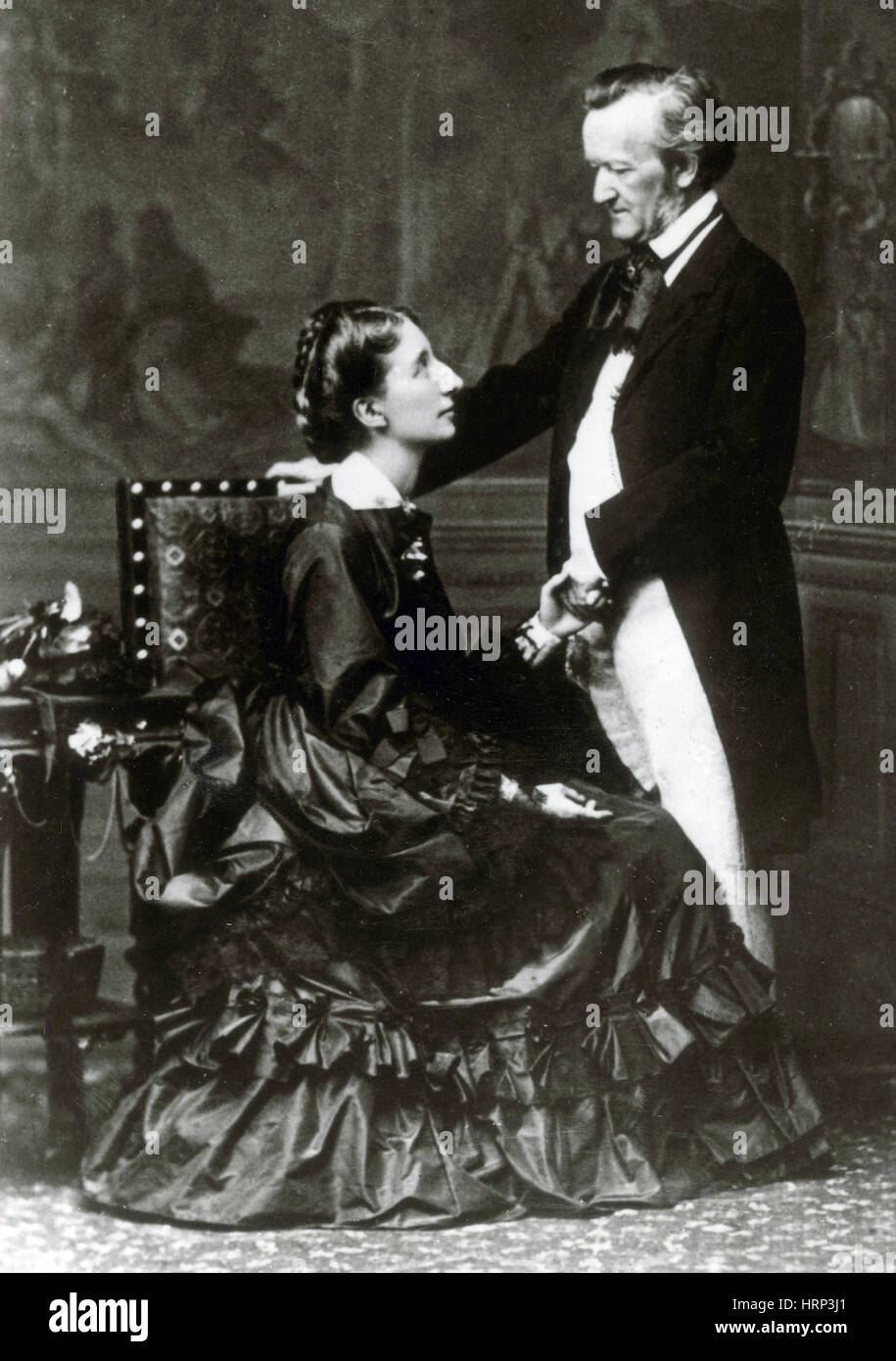 Wilhelm and Cosima Wagner, 1872 - Stock Image