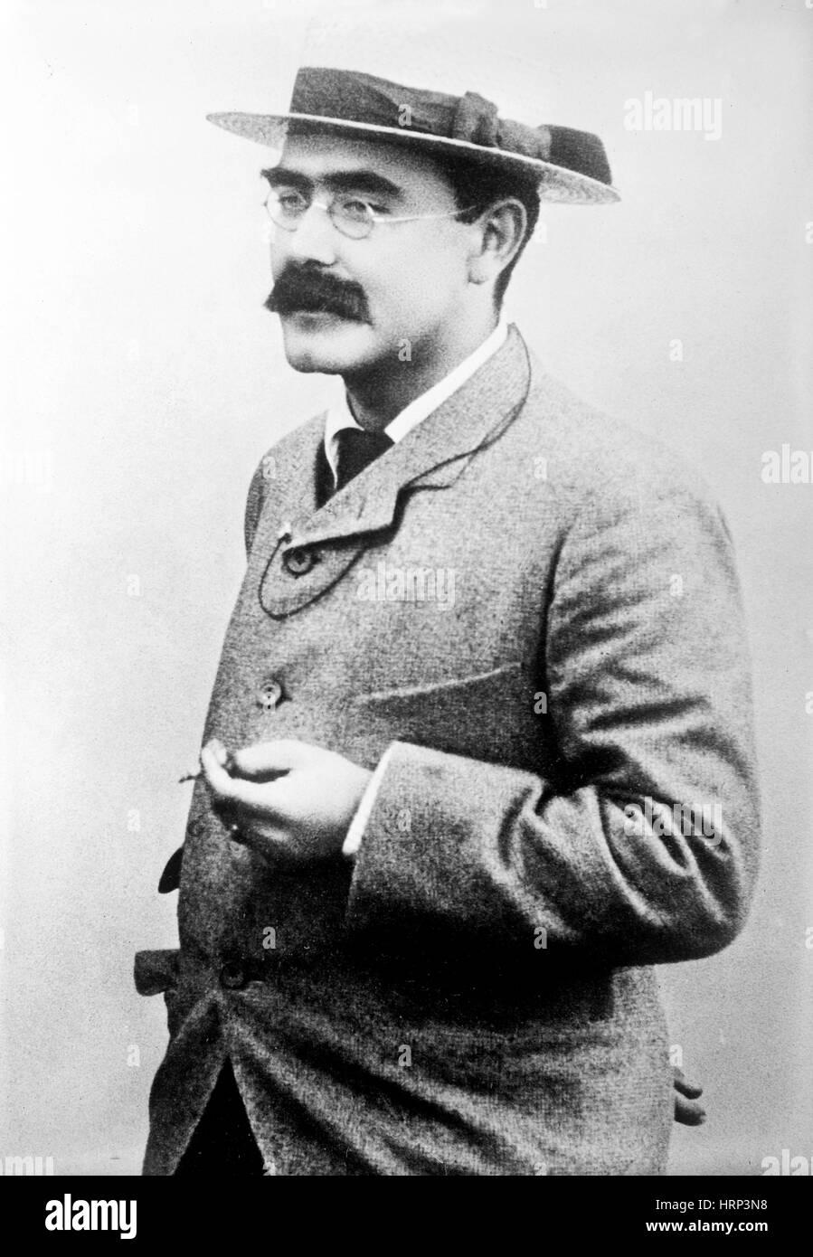 Rudyard Kipling, English Author - Stock Image