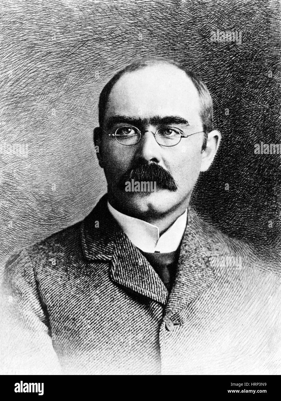 Rudyard Kipling, English Author Stock Photo