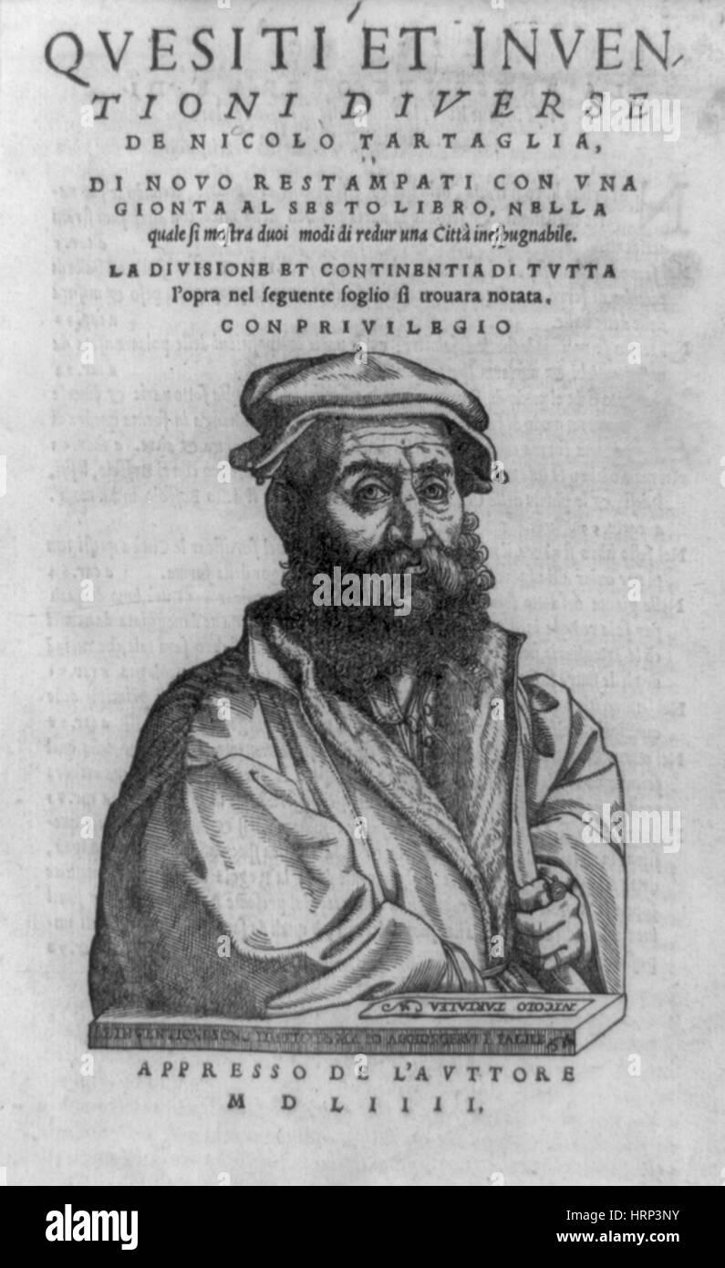 Tartaglia's Quesiti et inventioni diverse, 1554 - Stock Image