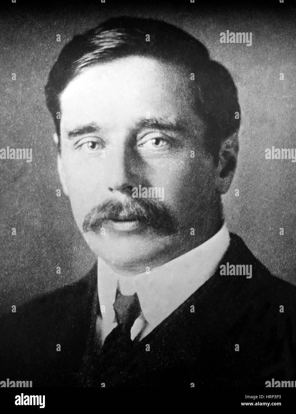 H. G. Wells, English Author - Stock Image
