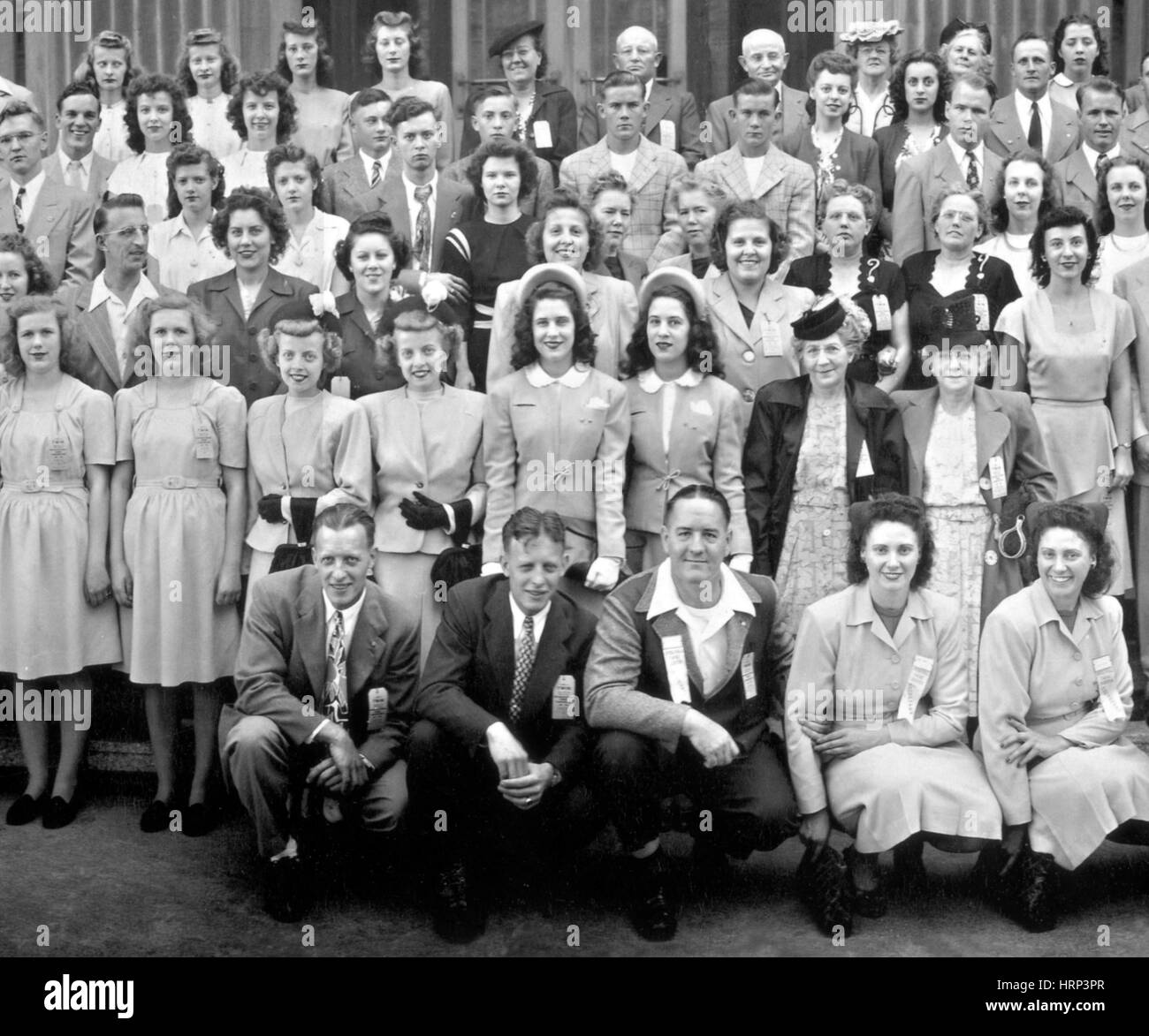 12th Annual International Twins Convention, 1946 - Stock Image