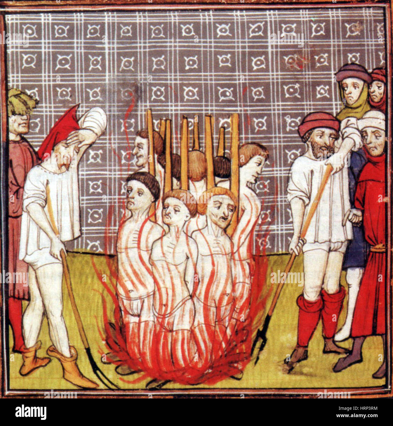 Knights Templar Burned At Stake, 1307 - Stock Image