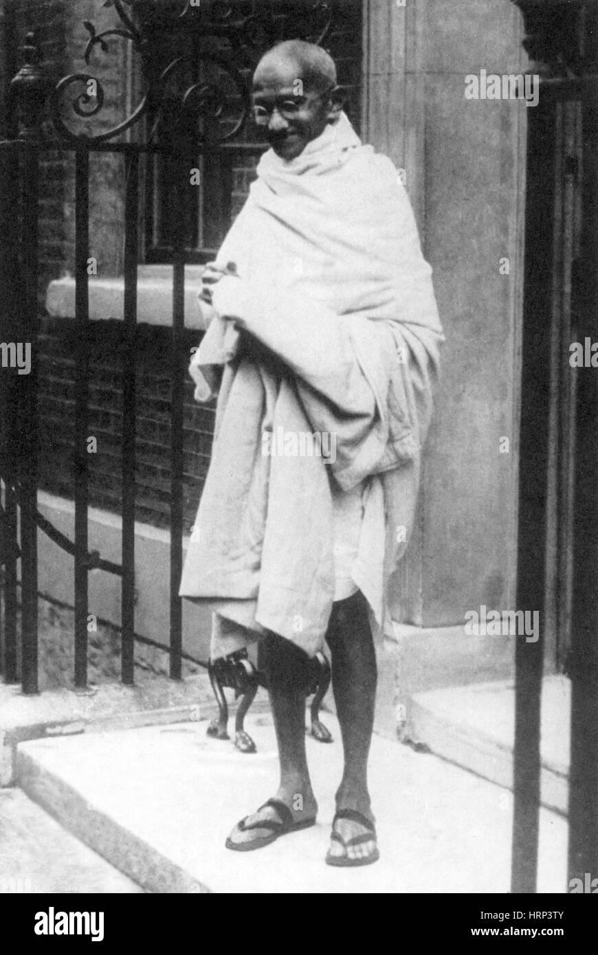 Gandhi, Indian Political/Spiritual Leader - Stock Image