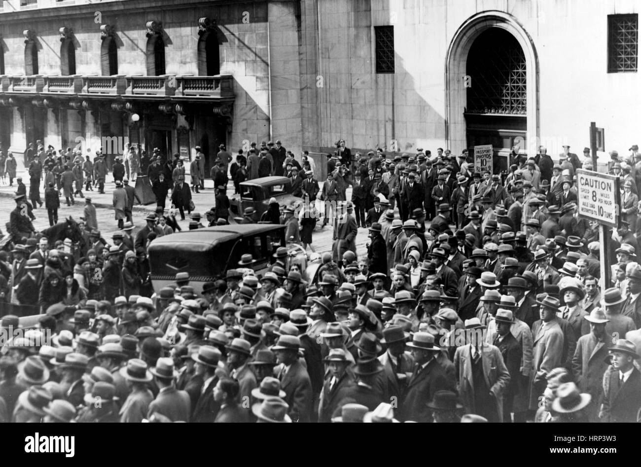 Wall Street Stock Market Crash, 1929 Stock Photo ...