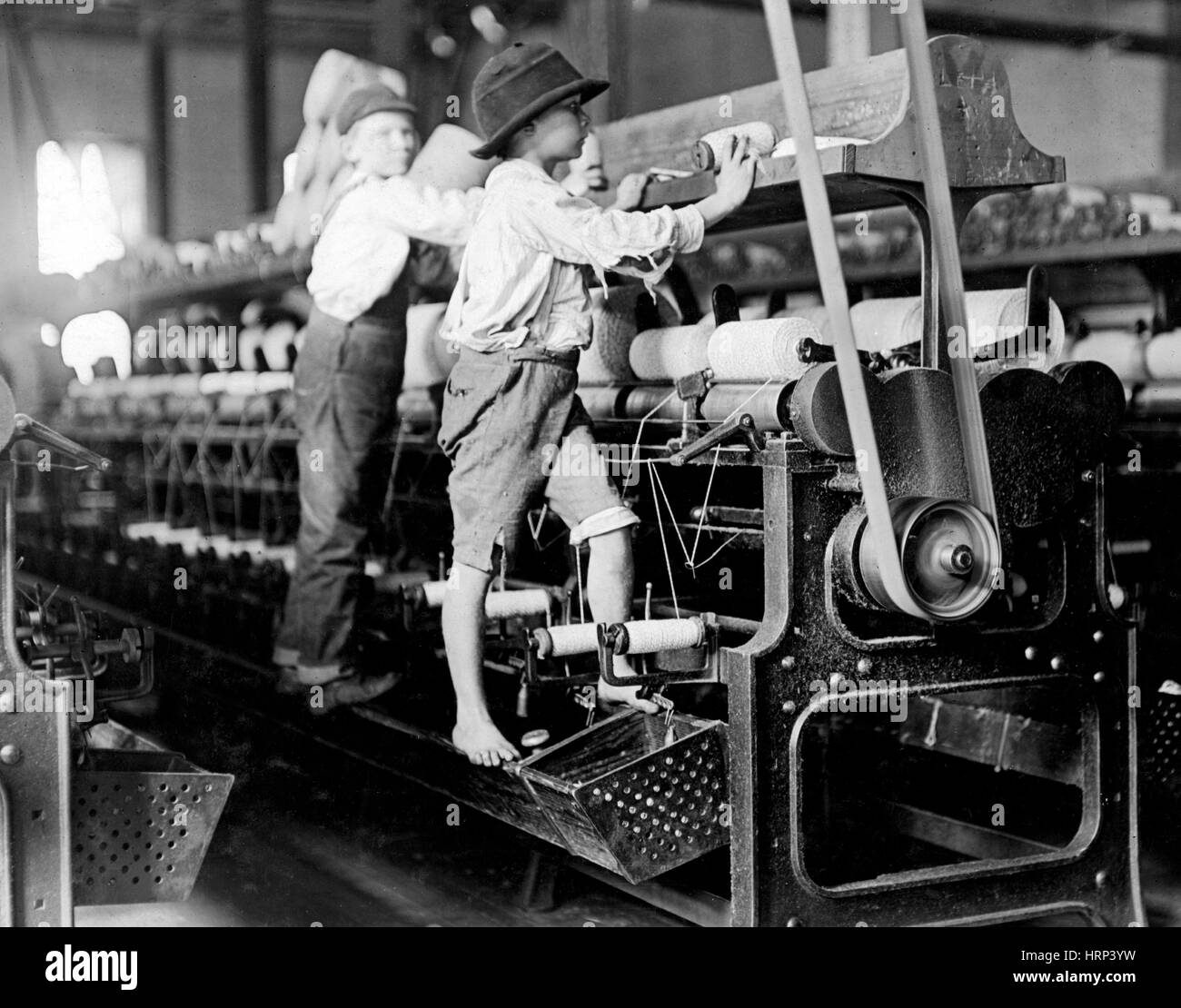 Georgia Cotton Spinners, 1909 - Stock Image