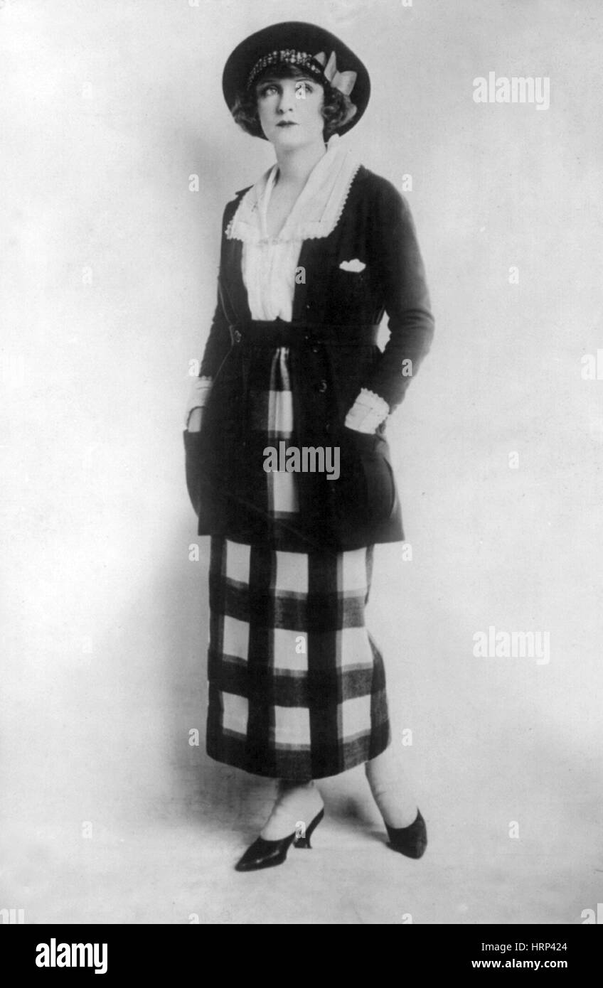 Women's Fashion, 1920 - Stock Image