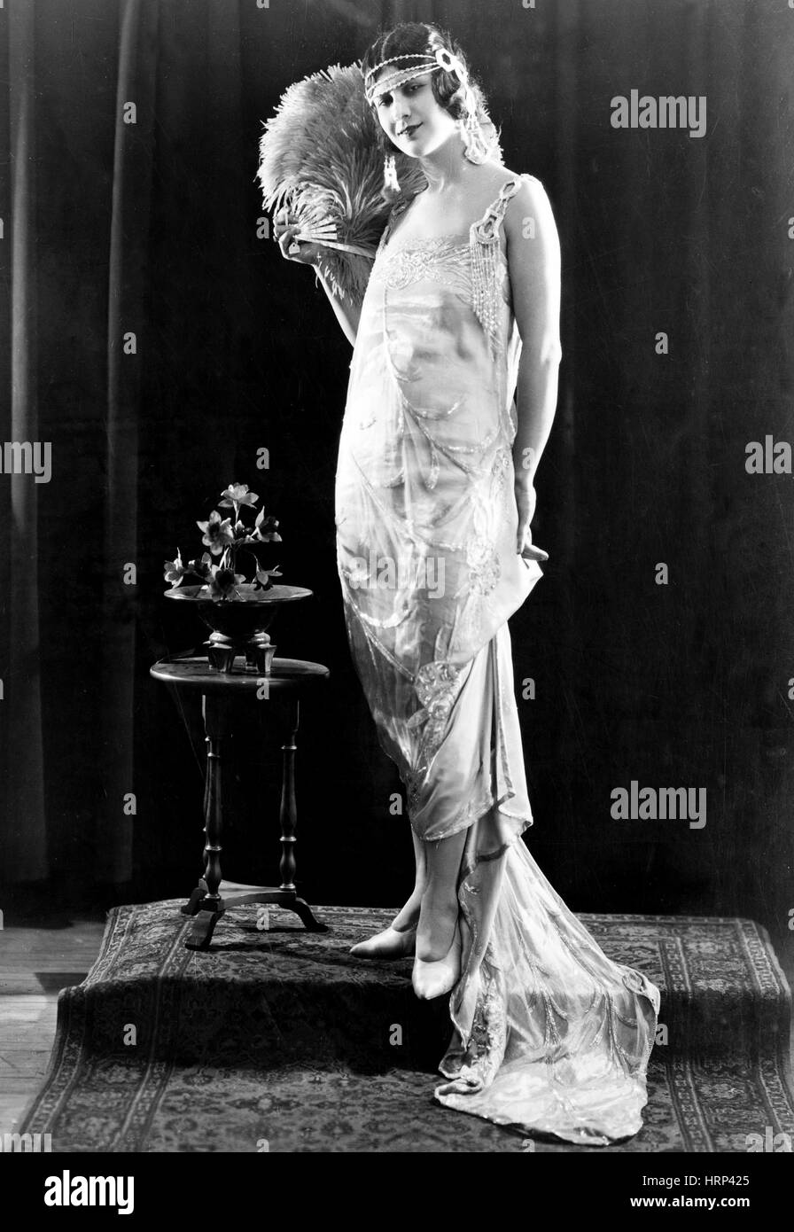 Women's Fashion, Evening Gown by Lucile, 1921 - Stock Image