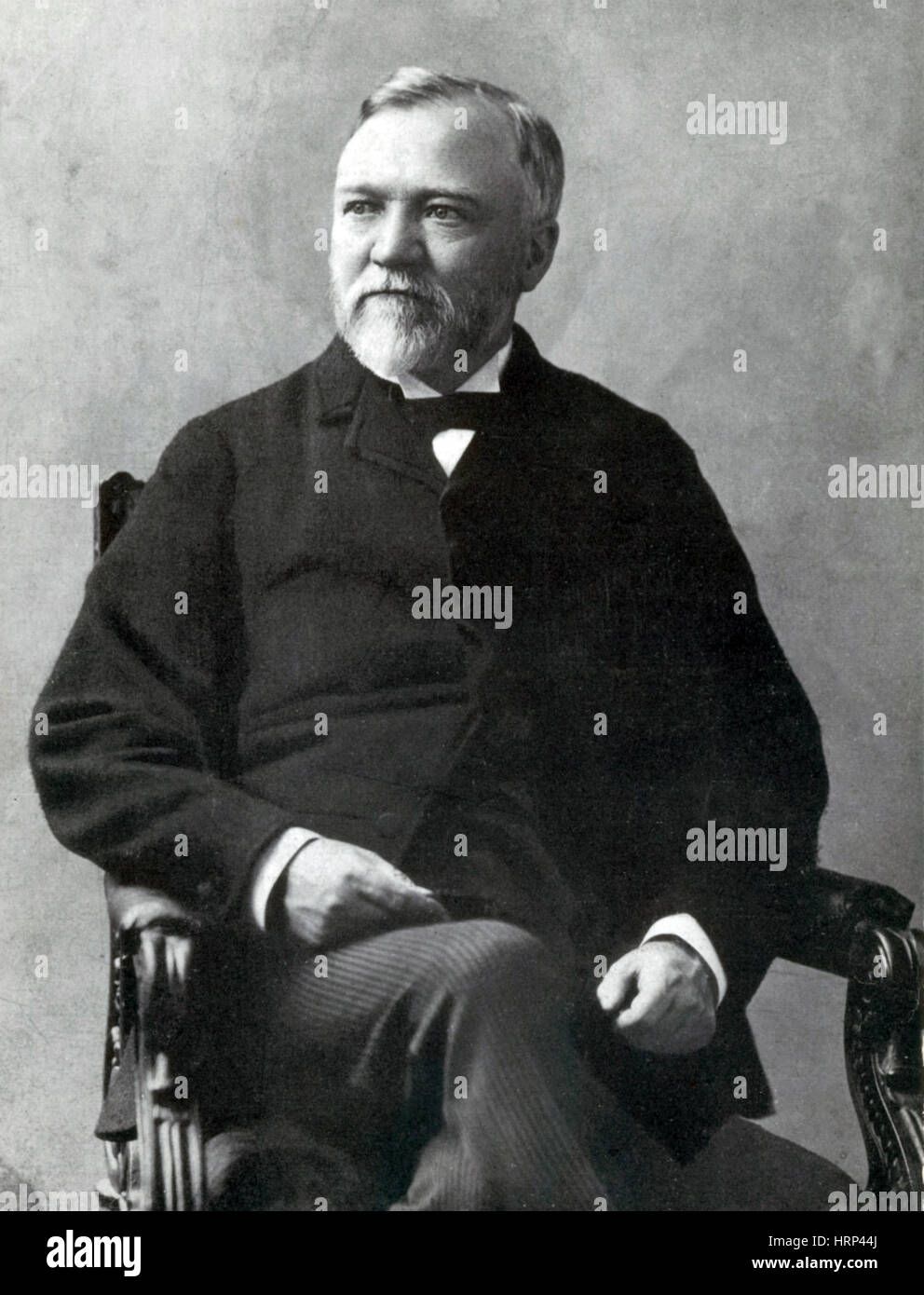 Andrew Carnegie, Scottish-American Industrialist - Stock Image