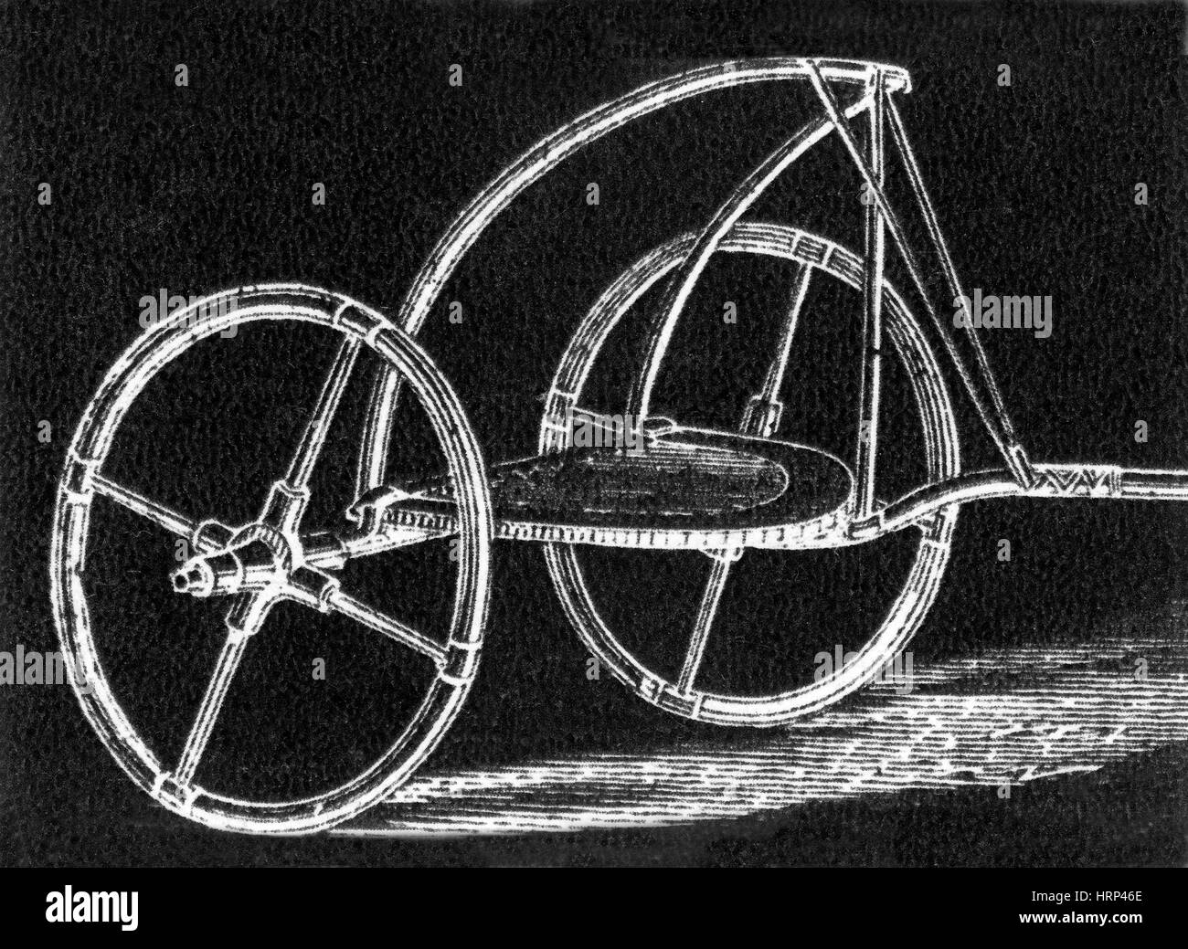 Egyptian War Chariot, 1985 BC - 1785 BC - Stock Image
