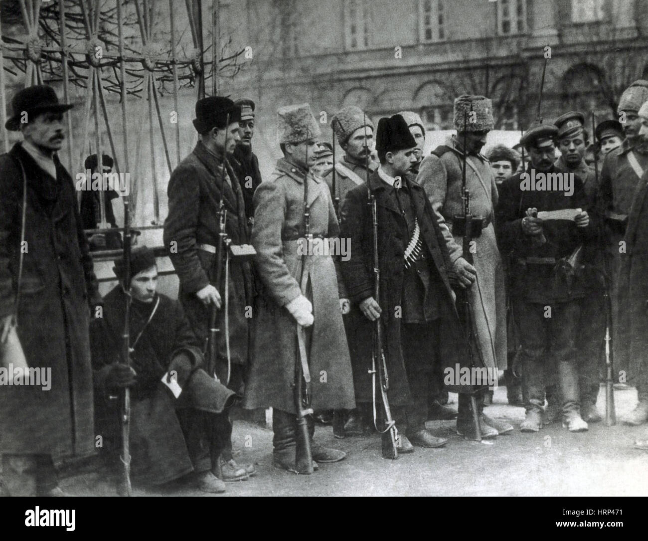 Red Guards and Soviet Delegates, 1917 - Stock Image