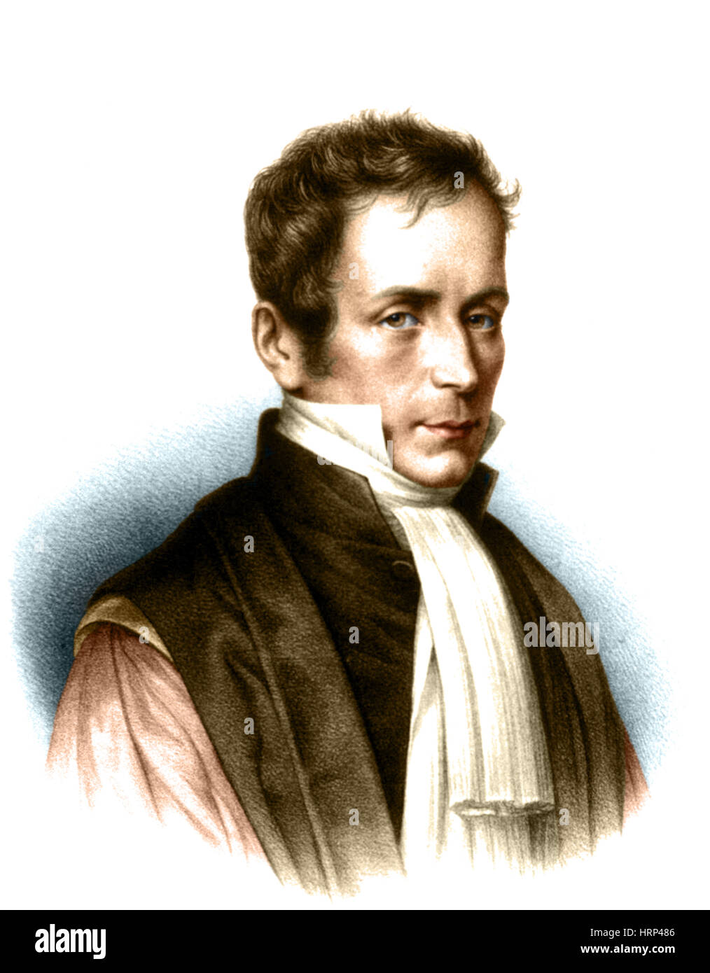 Rene Laennec, French Physician and Inventor Stock Photo