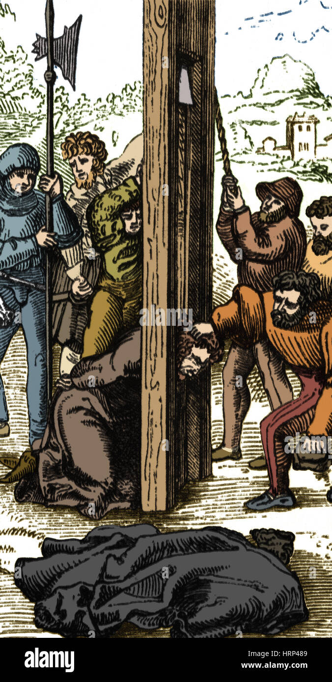The Guillotine, 18th Century - Stock Image