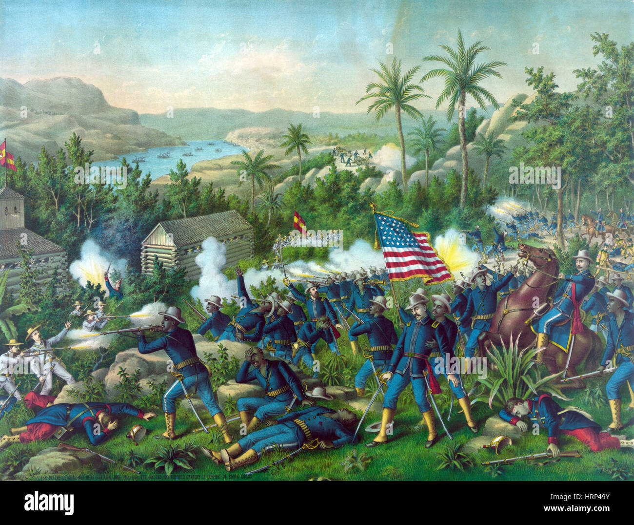 Battle of Las Guasimas, 1898 - Stock Image