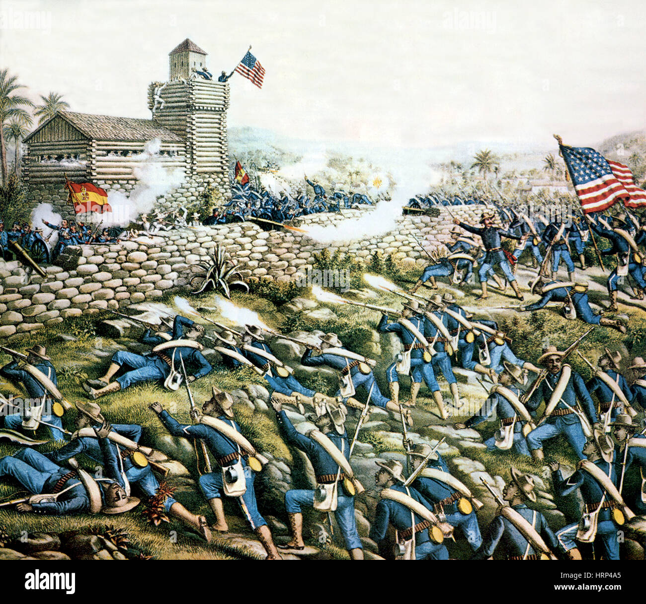 Battle of San Juan Hill, 1898 - Stock Image