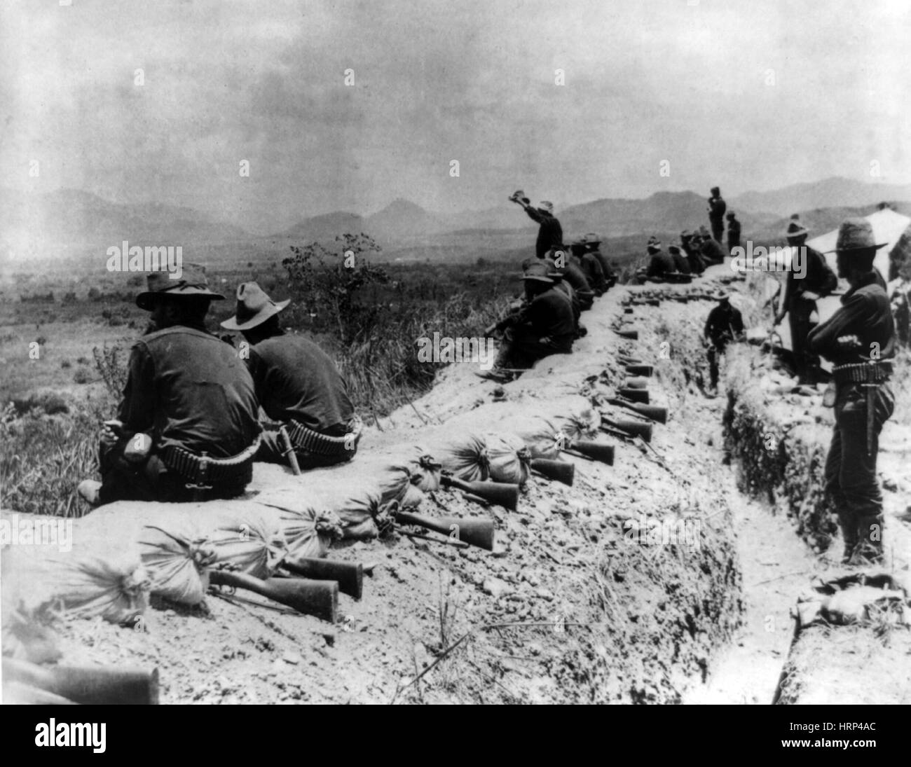 Siege of Santiago, American Trenches, 1898 - Stock Image