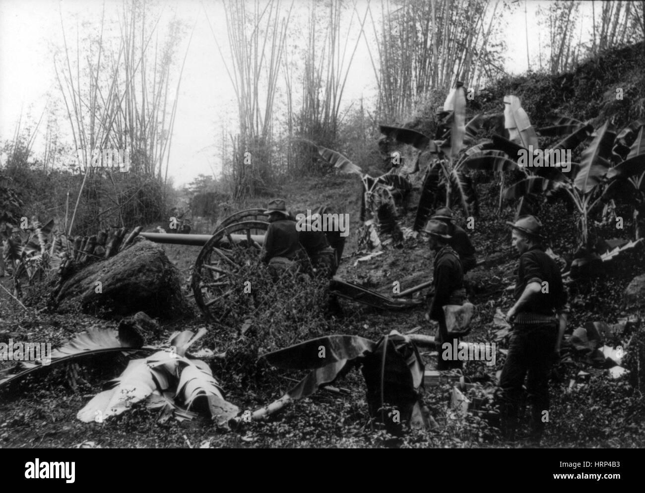 Philippine-American War, 1899 - Stock Image
