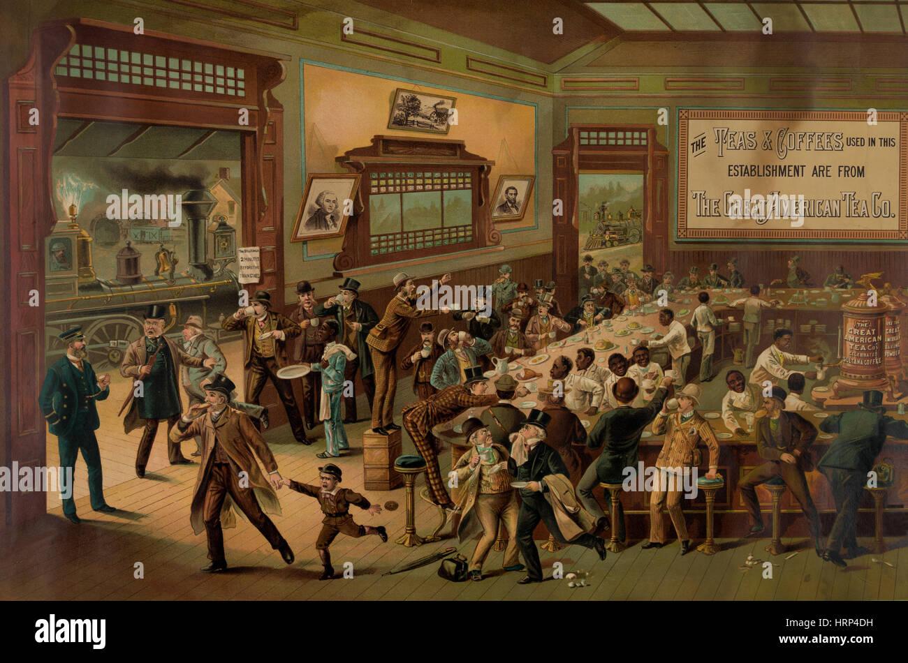 Morning Rush Hour, 1886 - Stock Image