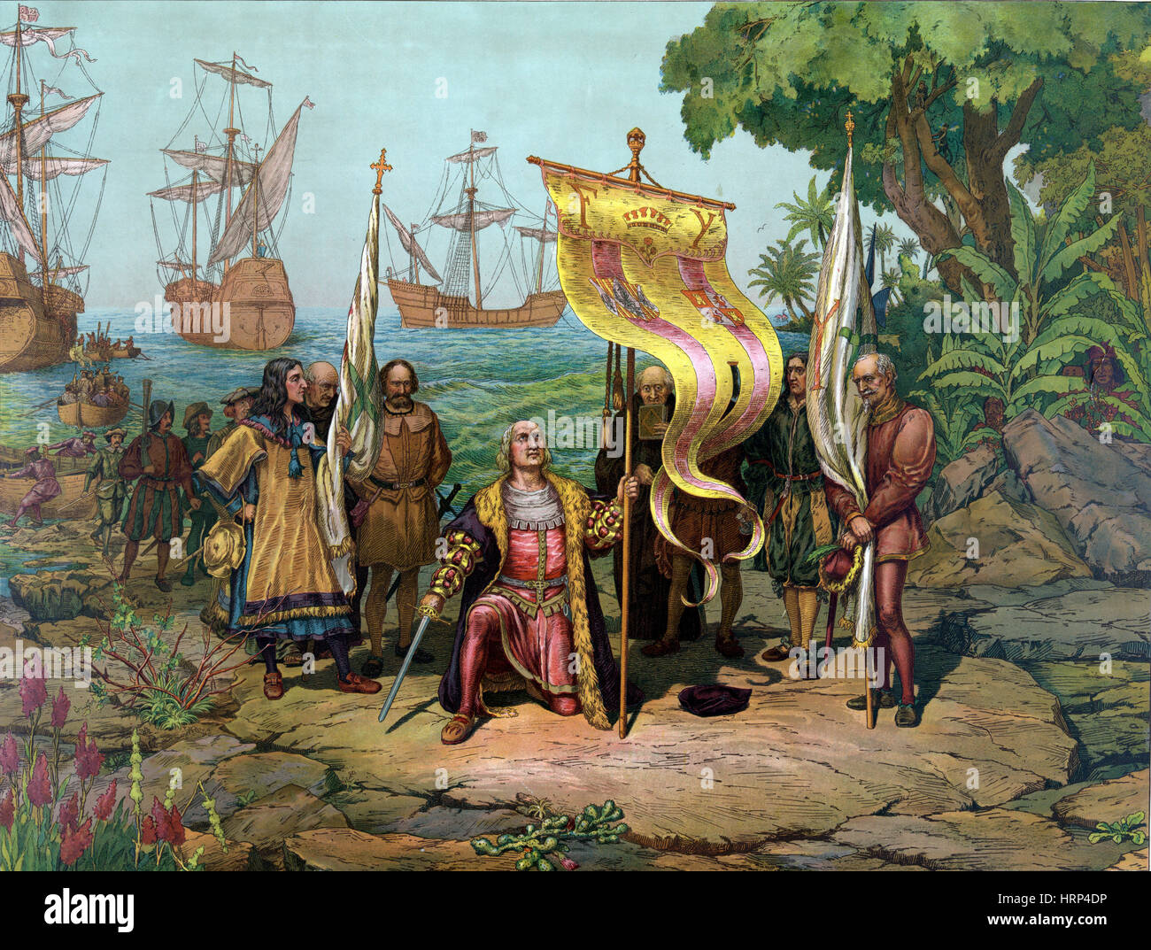 Christopher Columbus Landing in New World, 1492