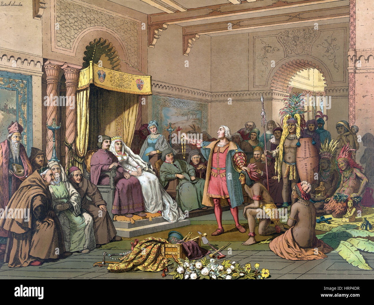 Christopher Columbus at Spanish Royal Court, 1493