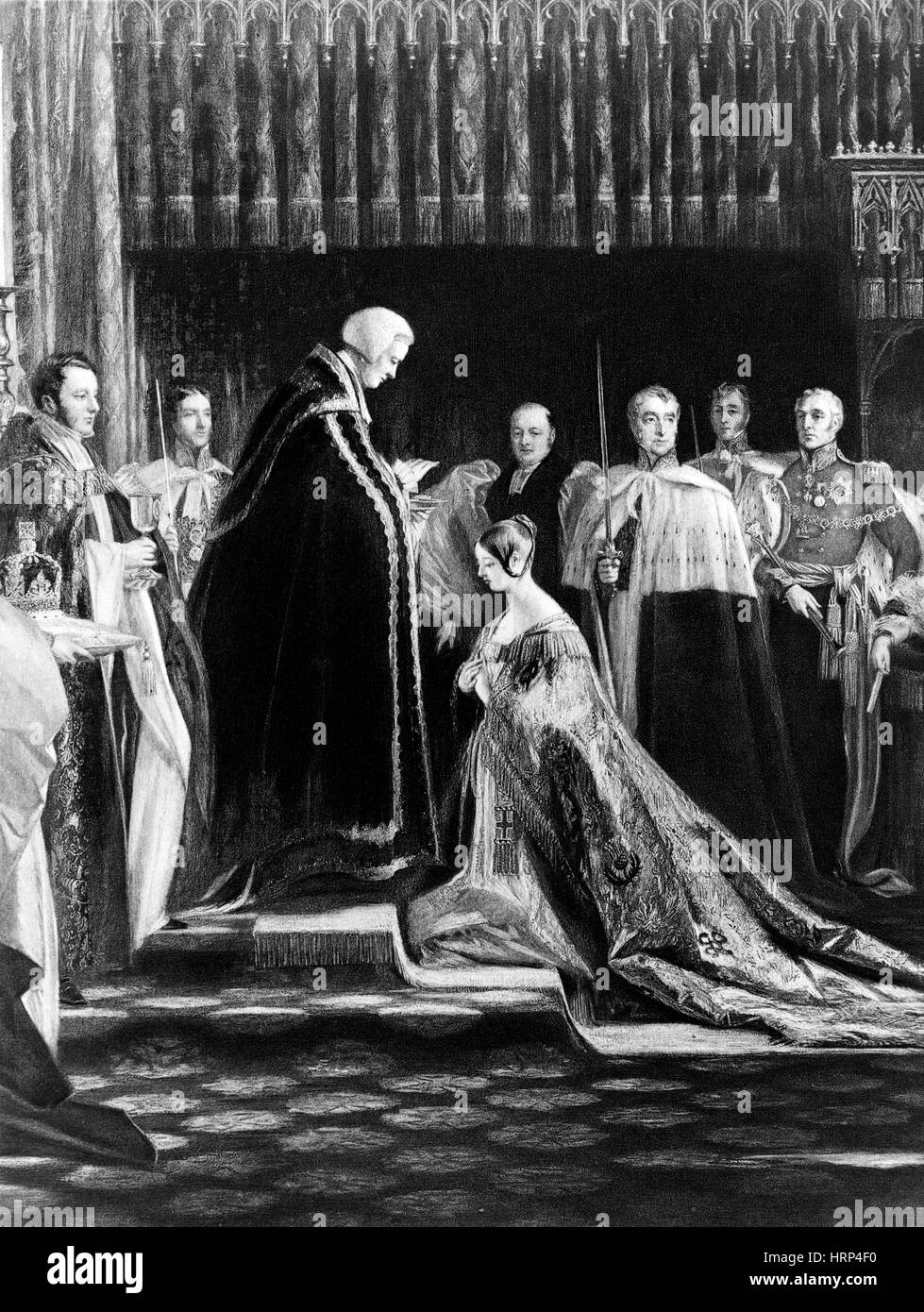 Queen Victoria, Coronation, 1838 - Stock Image